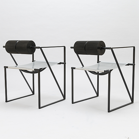 Mario botta, a set of six 1980's 'seconda chairs' for alias, italy.