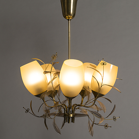 Paavo tynell, a mid-20th century '9029/5' pendant light for taito, finland.