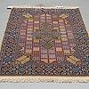 A rug, semi-antique, esfahan, part silk, ca 172 x 110 cm.