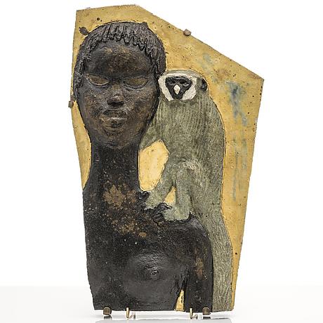 Michael schilkin, a stoneware relief, signed schilkin.