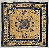 A meditation rug, semi-antique ningxia, china, ca 130 x 126 cm.