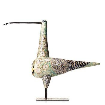 111. Birger Kaipiainen, a ceramic sculpture of a bird, Arabia, Finland 1958.