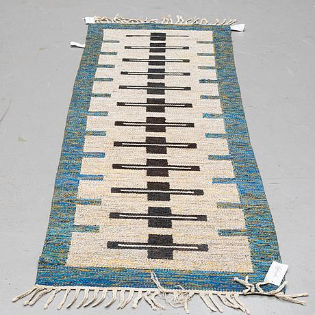A runner, flat weave, ca 236 x 75 cm.