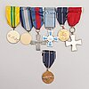 A set of six medals, finland 20th century.