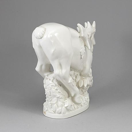 A helge christoffersen blanc de chine porcealin figurine, royal copenhagen.