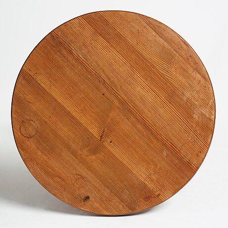 "Axel einar hjorth, a stained pine ""lovö"" table, nordiska kompaniet, sweden 1930's."