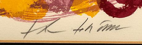 Theo tobiasse, färglitografi signerad och numrerad 15/310.