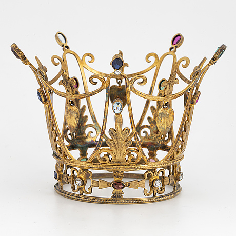 Silver and coloured stone bridal crown, cg hallberg.