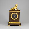 A french late empire table clock, first half of the 19th century.