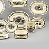 A 58 pcs 'exotica' dinner service by artur percy for gefle, sweden.