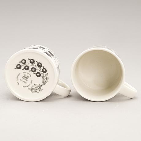"Birger kaipiainen, serving dishes, 15 pcs, ceramics, ""paradise"", arabia, the later half of 20th century."