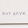 Rut bryk, a 1980's 'window' relief signed rut bryk.