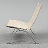 """Poul kjaerholm, """"pk 22, chair, fritz hansen 1982."""