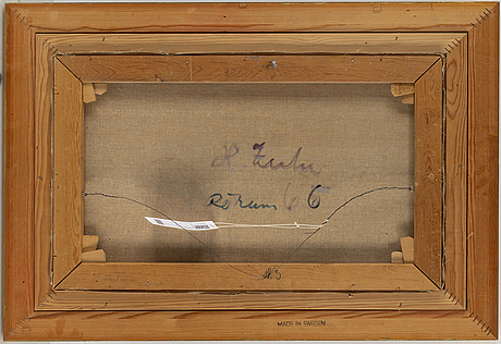 Hugo zuhr, oil on canvas, signed.
