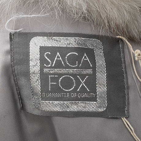 Saga fox,  a fox fur jacket.