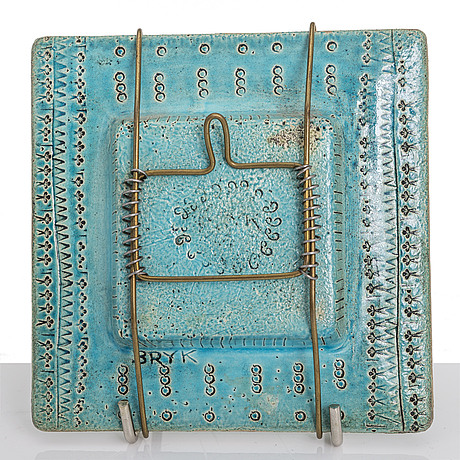 Rut bryk, a stoneware relief, signed bryk.