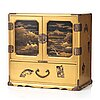 A japanese lacquered cabinet, meiji period (1868-1912).