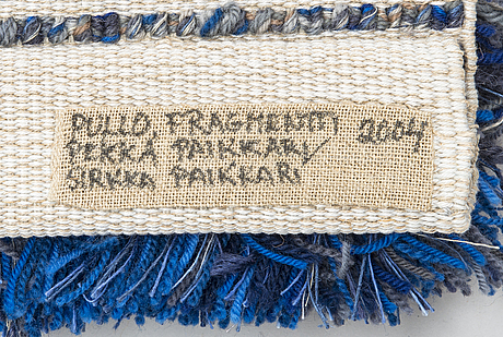 Pekka paikkari, ryijy rug, made by sirkka paikkari loomsterstudio, finland 2004.