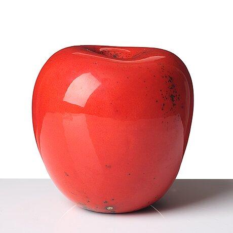 Hans hedberg, a faience sculpture of an apple, biot, france.