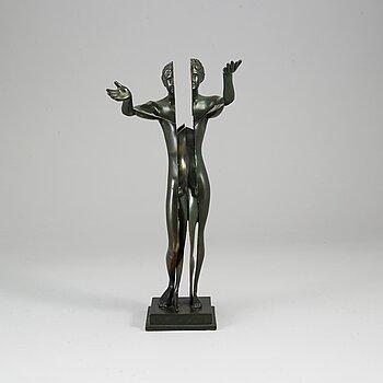 FERNANDEZ ARMAN, Sculpture. Bronze, signed, numbered, foundry mark.