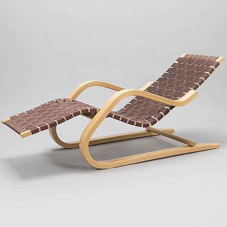 Alvar aalto, a 1980's chaise lounge '43' for artek.