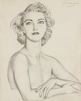 NILS VON DARDEL, pencil on paper, signed Dardel and dated 1938.