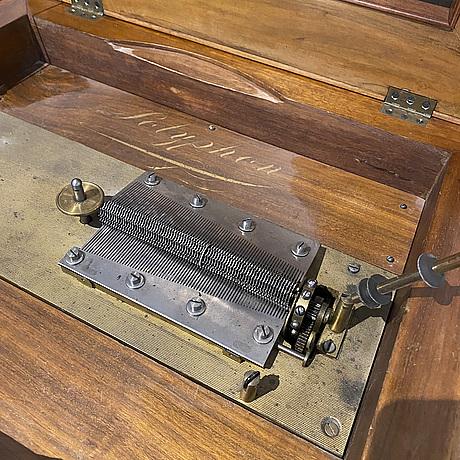 A german symphonion music box, jul. heinr. zimmermann, leipzig, late 19th century.