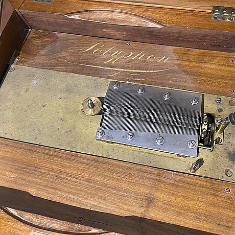 Speldosa, symphonion, jul. heinr. zimmermann, leipzig, tyskland, sent 1800-tal.