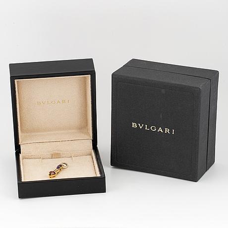 Bulgari, gold, brilliant-cut diamond, amethyst and tourmaline pendant.