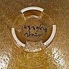 A stoneware deepdish by aldo londi.