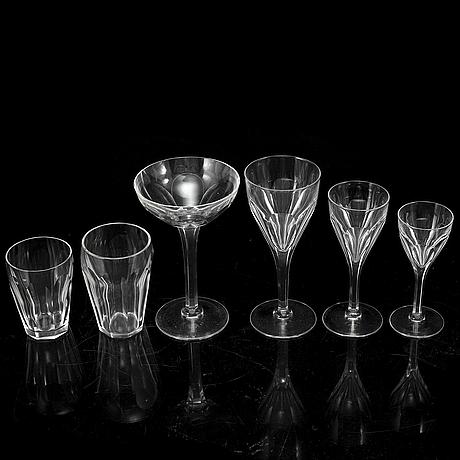 A swedish glass service, 20th century (58 pieces).