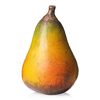 103. Hans Hedberg, a faience sculpture of a pear, Biot, France.