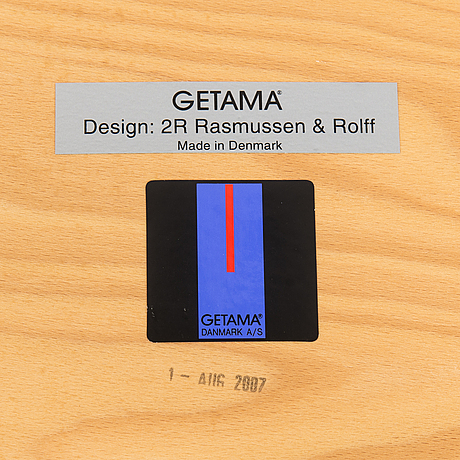 """A danish 21st-century chair """"low low"""" by 2r rasmussen & rolf for getama."""