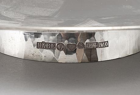 Håbes atelje ab, a sterling silver dish, göteborg 1976.