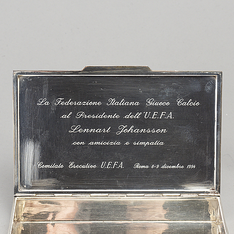 Two silver boxes, silver 800 and 925. second half of the 20th century.