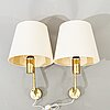 Hans-agne jakobsson, a pair of wall lights, markaryd, second half of the 20th century.