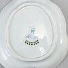 A 'tranquebar' faince dinner service, aluminia for royal copenhagen (46 pieces).