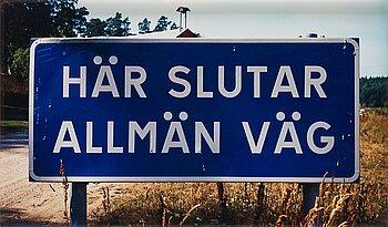 """1045. Dan Wolgers, """"Här slutar allmän väg"""", 1995."""