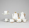 A louise adelborg 'nationalservisen' porcelain part coffee and teaservice, rörstrand, ca 1949,1958.