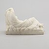 "Grand tour-souvenir, ""cleopatra morente"", alabaster, turn of the century 18/1900."