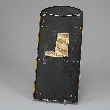 "A metal board,  ""glöm ej köpa hem"", first half of the 20th century."