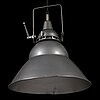 A pair of 1950s 'lita' industrial pendant ceiling lights, lita, france.