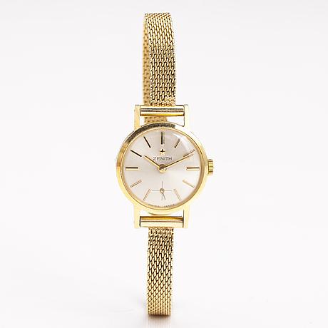 Zenith, wrist watch, 14k and 18k gold, 21 mm.