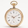 Pocket watch, remontoir, 14k gold. 32 mm.