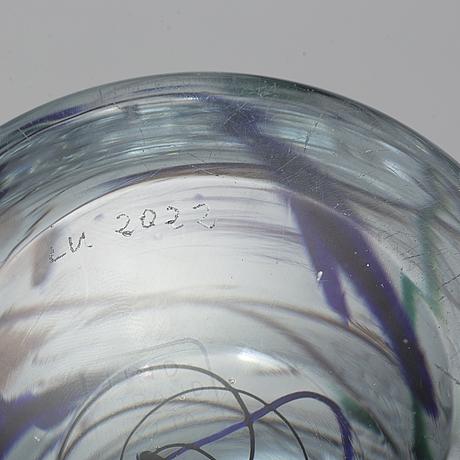 A vicke lindstrand 'abstracta' glass vase, kosta, 1950s.
