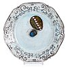 Rut bryk, a faience plate signed bryk.