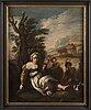 Domenico fetti, copy after. 18th century. relined canvas 80 x 63 cm.