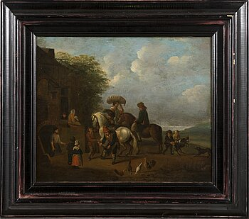 UNKNOWN ARTIST 18TH/19TH CENTURY. Unsigned. Oil on relined canvas 31 x 37 cm.