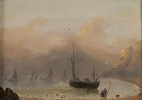 Unknown artist 19th century, unsigned. oil on canvas 20 x 29 cm.