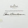 Tom wesselmann, a signed porcelain plate.